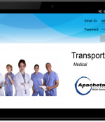 TransportACE for Medical on An Android Tablet:  A technician begins his/her day by logging into the device